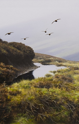 Flying Grouse by Rodger McPhail