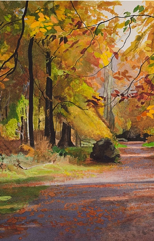 Autumn Trees by Bob Rudd