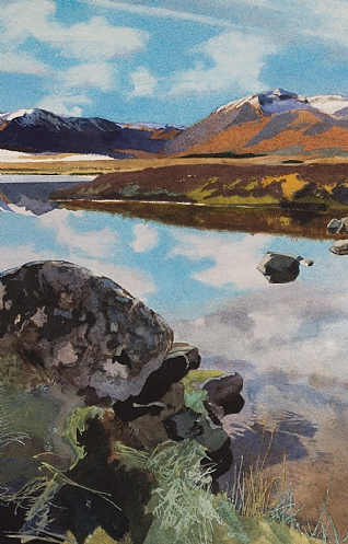 Winter, Rannoch Moor by Bob Rudd