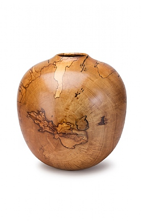 Turned Spalted Beech Vase by Angus Clyne