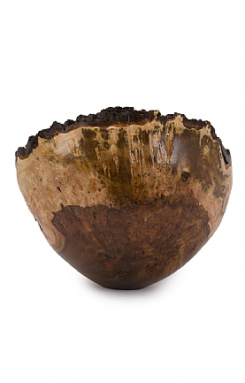 Wet Turned Burr Elm Bowl (41) by Angus Clyne