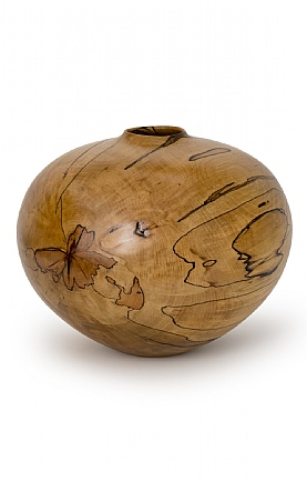 Spalted Beech Vase (58) by Angus Clyne