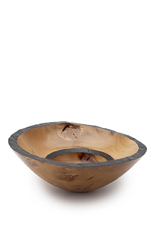 Burnt Edge Burr Elm Bowl (129) by Angus Clyne