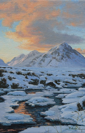 Sunset, Buachaille Etive Beag, Glencoe by Peter Symonds