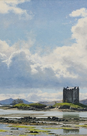 Big Skies over Castle Stalker, Argyll by Peter Symonds