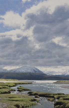 Loch Linnhe and the Glencoe Hills from Inversanda Bay by Peter Symonds