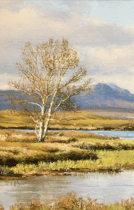 Silver Birches by Loch Ba, Rannoch Mor by Peter Symonds