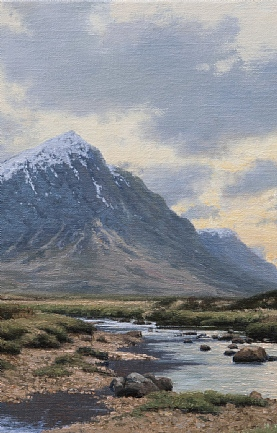 Sunset, River Etive and Buachaille Etive Mor by Peter Symonds