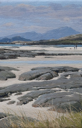 The Isles of Muck and Rum from Sanna Bay by Peter Symonds