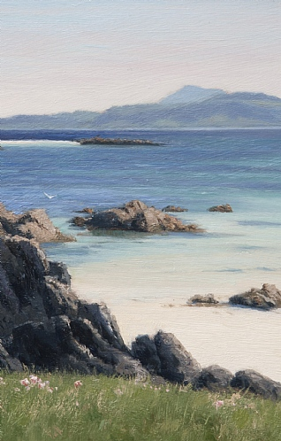 The Isle of Mull from Iona by Peter Symonds
