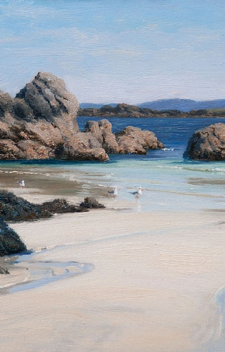 White Sand and Clear Sea, Iona by Peter Symonds