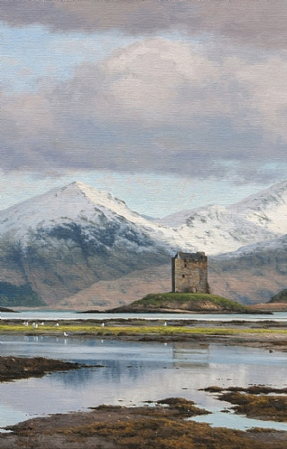 Spring Snow Castle Stalker by Peter Symonds