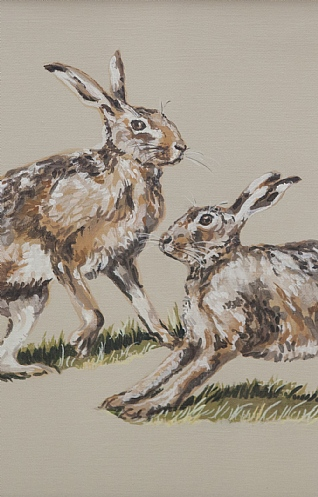 Passing Hares by Nicola Kevane
