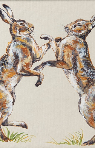 Nutbrown Hares by Nicola Kevane
