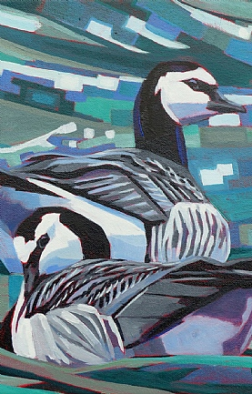 Two Barnacle Geese by Brin Edwards