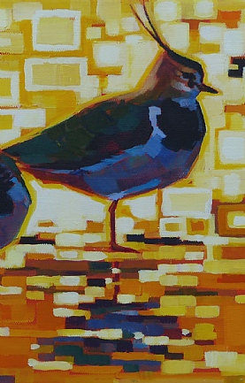 Two Yellow Lapwings by Brin Edwards