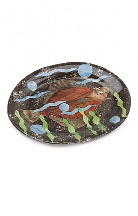 Flat Fish Small Oval Dish by Sophie MacCarthy