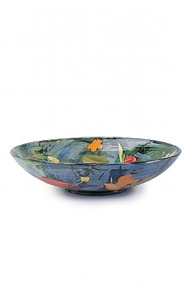 Leaves and Stalks Large Bowl by Sophie MacCarthy