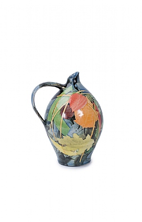 Leaves and Stalks Large Oil Jar by Sophie MacCarthy