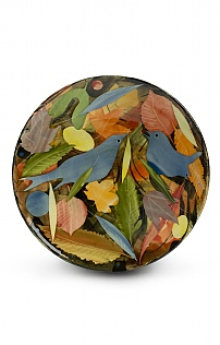 Birds and Leaves Small Plate by Sophie MacCarthy