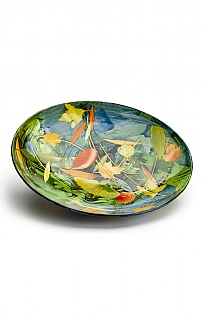 Leaves and Stalks Large Shallow Bowl by Sophie MacCarthy