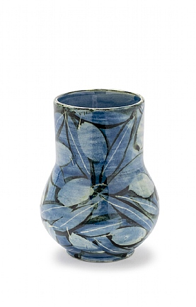 Blue Birds and Leaves Vase by Sophie MacCarthy