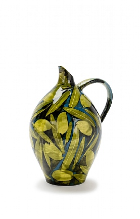 Olives and Leaves Large Oil Jar by Sophie MacCarthy
