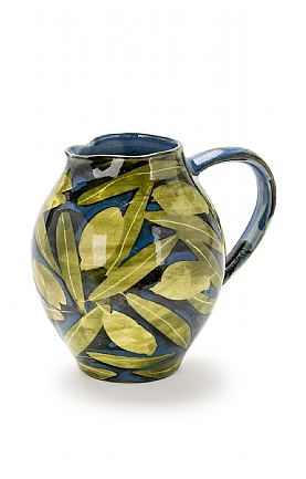 Olive and Leaves Rounded Jug by Sophie MacCarthy