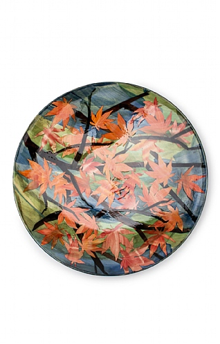 Maple Leaves, Very Large Shallow Bowl by Sophie MacCarthy