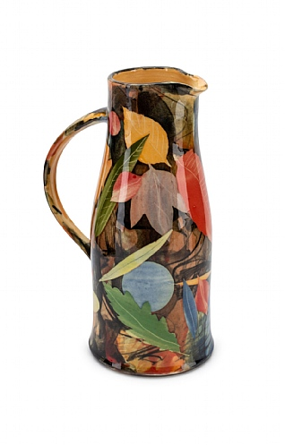 Leaves, Tall Curved Jug by Sophie MacCarthy