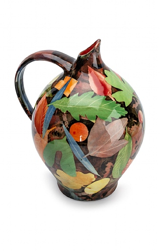 Leaves, Large Oil Jar by Sophie MacCarthy