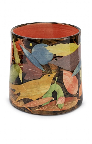 Birds and Leaves, Oval Vase by Sophie MacCarthy