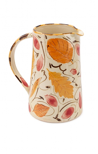 Yellow and Red Leaves, Large Straight Jug by Sophie MacCarthy