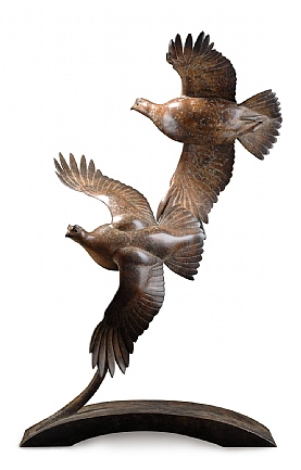 Double Flying Grouse By Ian Greensitt