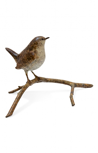 Wren on Twig by Eddie Hallam
