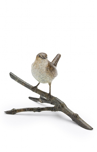 Wren on a 4 -Point Twig by Eddie Hallam