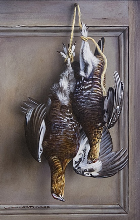 Brace of Hanging Grouse by W.A. Westwood