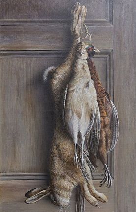 Brace of Pheasant and A Hare by W.A. Westwood