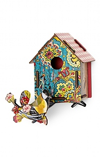 Bird House Decoupage