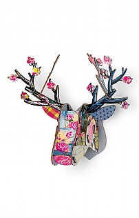 Mini Deer Trophy Decoupage