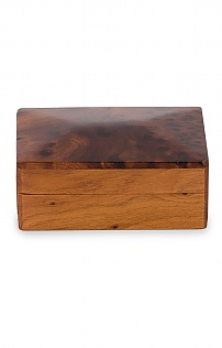 Polished Wood Oblong Box
