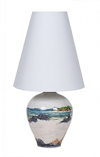 Highland Stoneware Medium Lamp & Shade