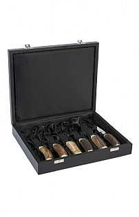 Abbeyhorn Set of Six Steak Knives