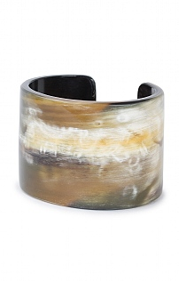 Horn Wide Armlet Bangle