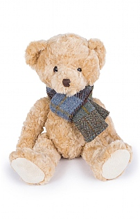 Bear with Tweed Scarf