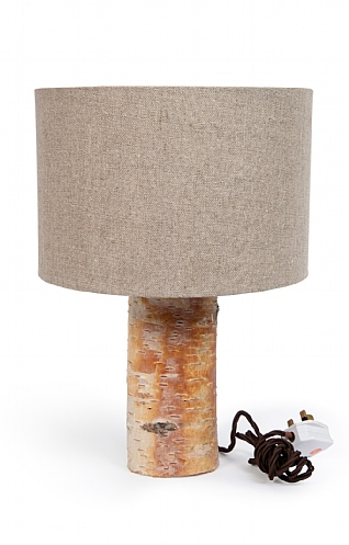 Silver Birch Lamp & Shade