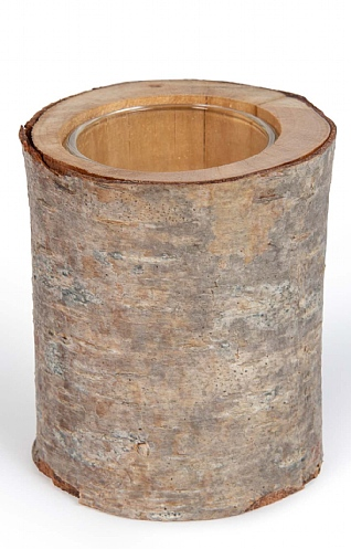 Silver Birch Tealight Holder