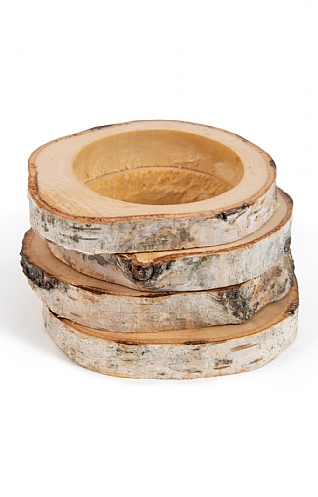 Set of Four Silver Birch Napkin Rings