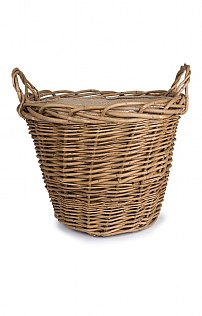 Lined Log Basket