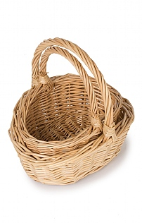 Set of Two Child's Willow Baskets